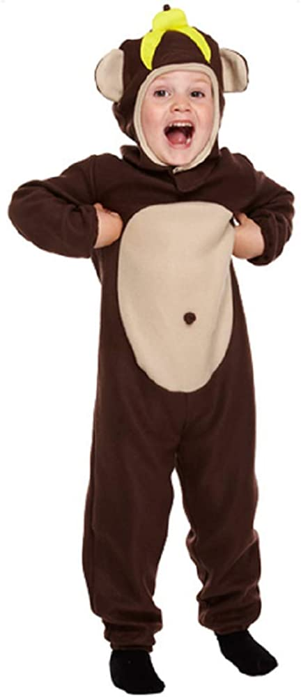 Ladies Mens Monkey Jungle Animal Festival Halloween Fancy Dress Costume Outfit
