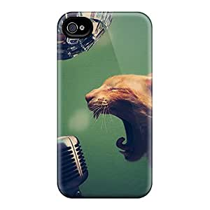 AlfredJWhite Case Cover For Iphone 4/4s - Retailer Packaging Singer Cat Protective Case