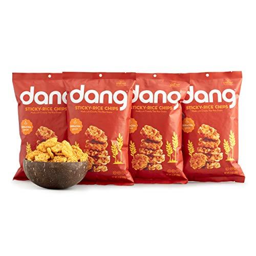 Dang Snackable Rice Cakes, Sriracha, Gluten Free, Non-GMO, 3.5 Ounce Bags, 4 Count