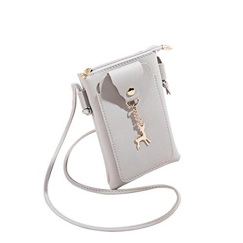 Girl Theft Shoulder Bag Purse Satchel VEMOW Tote Patchwork Deer Bags Strap Backpacks Vintage Bags Messenger Women Phone Bag Cover Gray Crossbody Purses Coin Clutches 1 Anti Handbag aqtwXpA