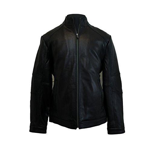 Boston Harbour Men's Leather Jacket Black (XL) (Leather Harbour)