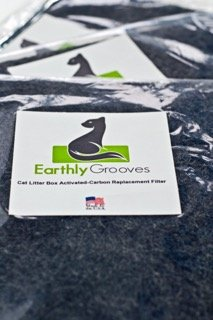 Earthly Grooves. Universal Cut to Fit Activated Carbon Filter for Cat Litter Boxes, Best Odor Control, Fresh...