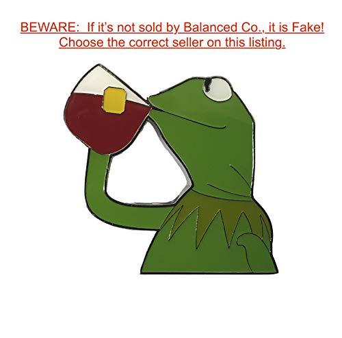 Balanced Co. Kermit None of My Business Meme Pin Kermit Enamel Pin Kermit Sipping Tea Hat Pin