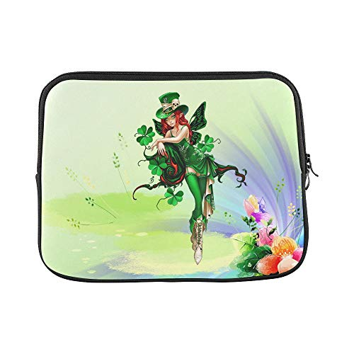 Design Custom A Green Fairy with A Skull Cap Sleeve Soft Laptop Case Bag Pouch Skin for MacBook Air 11