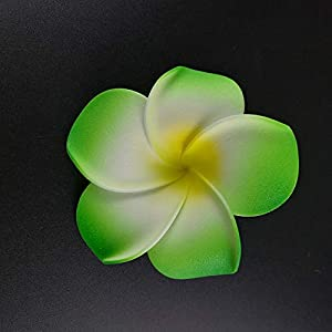 Big-Deal_100PCS Plumeria Hawaiian PE Foam Frangipani Artificial Flower Headdress Flowers Egg Flowers Wedding Decoration Party Supplies - (Color:5; Size:4CM) 6