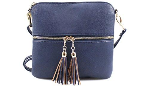 Messenger Tassel Shoulder Body Cross Chain Navy Tote Bag Ladies Handbag Satchel Women Bags qadIOwI