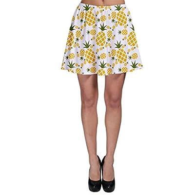 CowCow Yellow Pineapple Pattern Skater Skirt