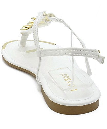 02 Strap Kaleb Accent Gladiator Gold White T Bamboo Sandals FgaqPx