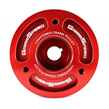 GrimmSpeed 095015R Lightweight Crank Pulley-Red by GrimmSpeed