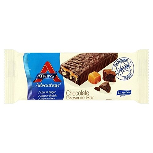 Atkins Advantage Chocolate Brownie Bar 60g - Pack of 2