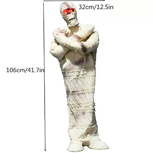 Halloween Decoration Horror Props White Mummy Ghost Halloween Animated Props Electric Ornament Creep Ghost Halloween Accessories]()
