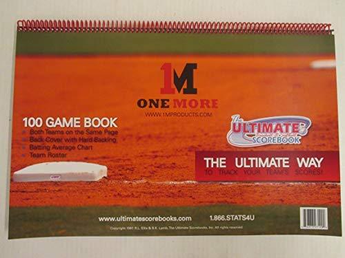 1M One More 100 Game Baseball Softball Fastpitch Ultimate Sports Scorebook ()
