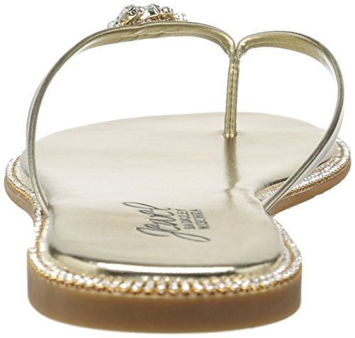 Badgley Mischka Women's Thalia Flat Sandal Gold kQsWoAR