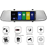7-Inch Touch Screen Backup Camera Mirror Dash Cam
