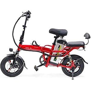 41yMGRMh7TL. SS300 JXH 14 Pollici Pneumatici E-Bike 3 Equitazione modalità di 25 Km/H 22Ah Batteria al Litio, Sellino Regolabile, Doppio…