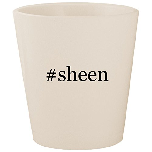 #sheen - White Hashtag Ceramic 1.5oz Shot Glass