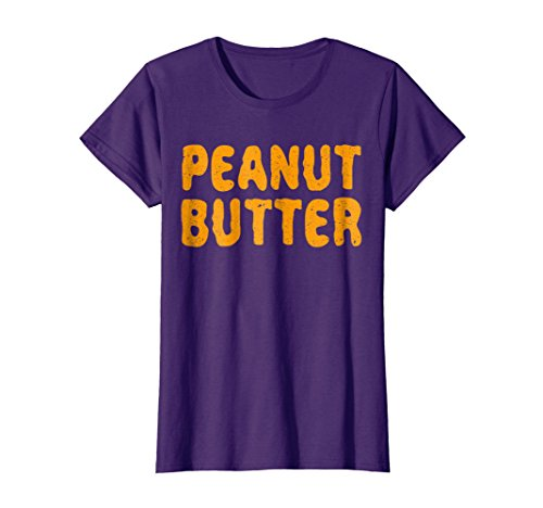 Womens Peanut Butter T-Shirt Matching Halloween Costume XL Purple