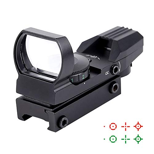 Ohuhu Red and Green Reflex Sight with 4 Reticles (Best Red Dot Sight For Browning Buckmark)