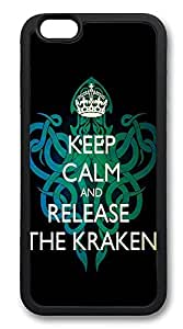 iPhone 6 Plus Cases, Keep Calm And Release The Kraken Durable Soft Slim TPU Case Cover for iPhone 6 Plus 5.5 inch Screen (Does NOT fit iPhone 5 5S 5C 4 4s or iPhone 6 4.7 inch screen) - TPU Black