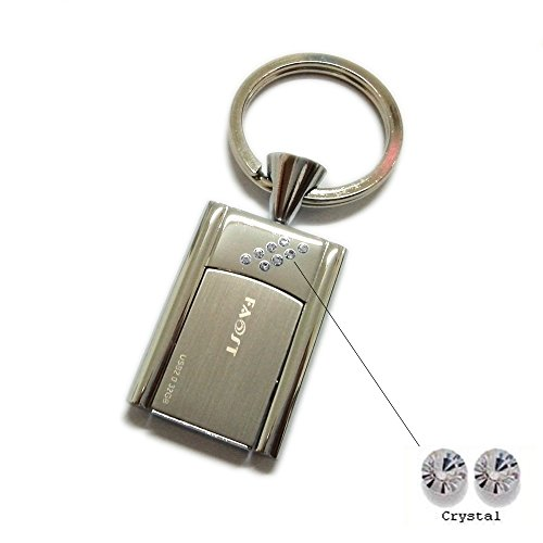 Data Colours (Faost Design 32GB Swarovski Crystal DM329132 Key Holder Silver Metal Case Handmade Freedom Flip Usb2.0 USB Flash Drive Memory Stick Pendrive Thumb iUSB Data Storage Color More color crystal (White))