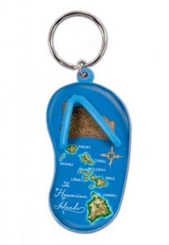 Hawaianska Nyckel Kedja Sand Toffel Hawaii Map Blå