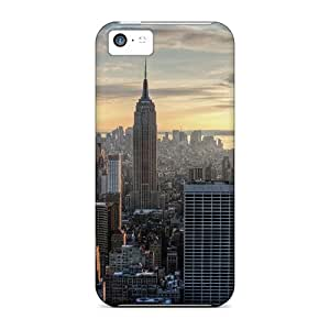 New Style Case Cover NphJxCI7502NLTzi Aerial View Of The Empire State Building Compatible With Iphone 5c Protection Case