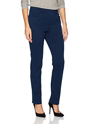(Erika Women's Joey Knit Denim Pull-on Jean, Libra WASH, X Large)