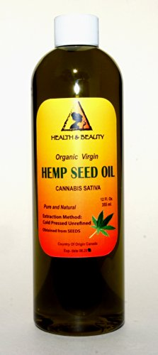 Hemp-Seed-Oil-Unrefined-Organic-Virgin-Carrier-Cold-Pressed-Pure-12-oz