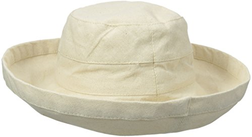 Scala Women's Cotton Big Brim Hat with Inner Drawstring, Linen, One Size