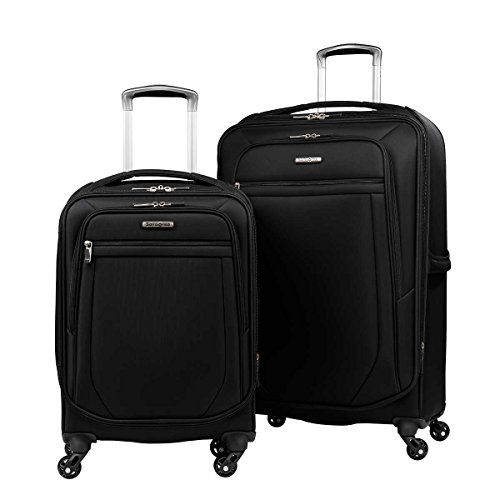 samsonite-2-pc-spinner-luggage-set-27-check-in-21-carry-on-super-light-weight-4-wheel-suitcase-black