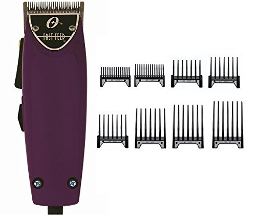 Fast Feed (Oster Fast Feed Limited Edition Purple Hair Adjustable Pro Clipper + 8pc Combs)