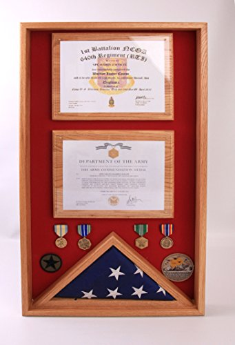 Commemorative Flag and Double Certificate Display