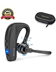 Bluetooth Headset V5.0, Beshoop Wireless Earpiece Handsfree Business Earphone in-Ear Earbuds with Mic Support iPhone XR XS X 8 7 Plus 6s iPad Samsung Android PC