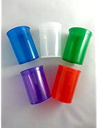 Investment 5 Pack Assorted Color 30 Dram Pop Top Bottles - Vial Medical Herb Pill Box Containers save