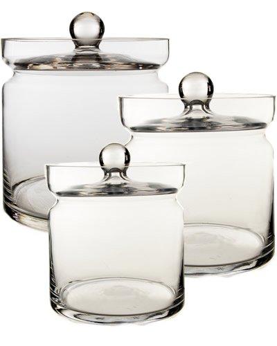 Apothecary Jar Set of 3, H-8.5