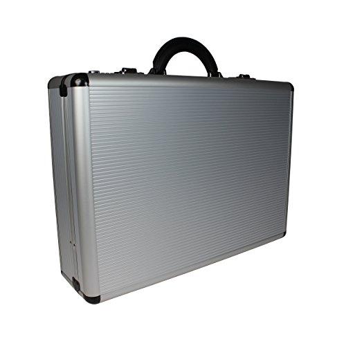 World Traveler Copa Aluminum Silver 5-inch Attache Case Briefcase, One ()
