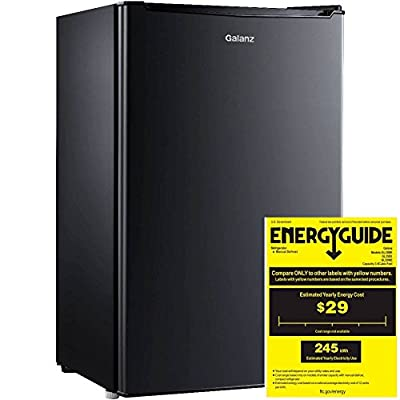 Galanz 3.5 cu ft Compact Single-Door Refrigerator, Black