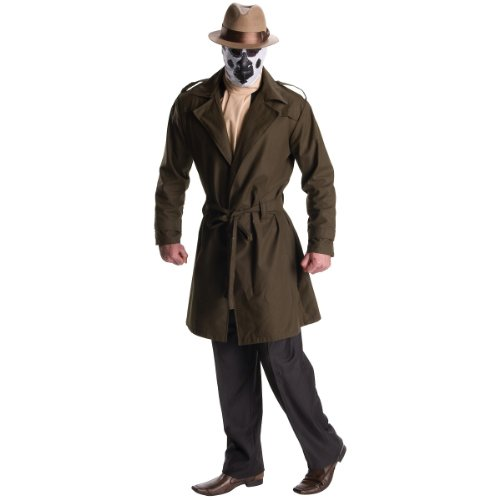 (DC Comics Watchmen Rorschach Costume, Adult)