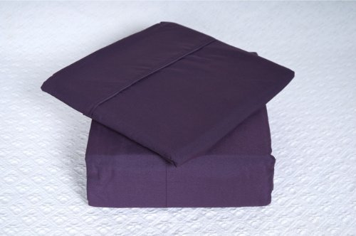 REGAL COMFORT BAMBOO LUXURY SOLID PRINT PLUM 2100 SERIES 6 PIECE SHEET SET, KING QUEEN OR FULL (Queen)