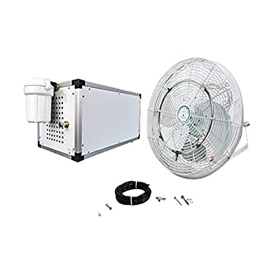 """Misting Fan Kit - 18"""" Fan with 1500 PSI Misting Pump - High Pressure Misting System - Residential, Restaurant and Industrial Misting"""