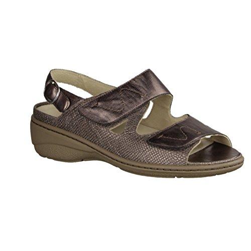 Waldläufer Kiana 642001-652 - Zapatos mujer Sandalia cómodo / relleno suelto, Varios colores, cuero (mamba anatol), altura de tacón: 30 mm