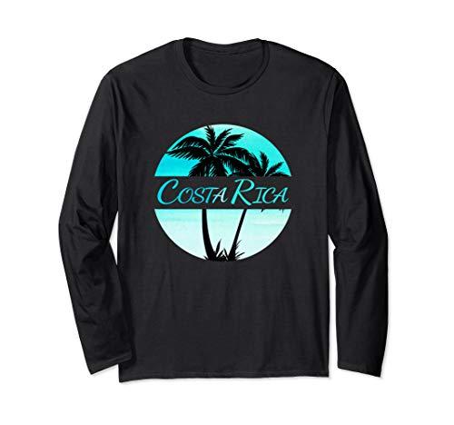 Costa Rica - Caribbean Palm Trees Souvenir Long Sleeve T-Shirt