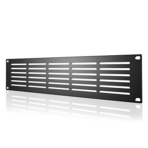 AC Infinity Rack Panel Accessory Vented 2U Space for 19'' Rackmount, Heavy-Duty 3mm Gauge Steel, Black by AC Infinity