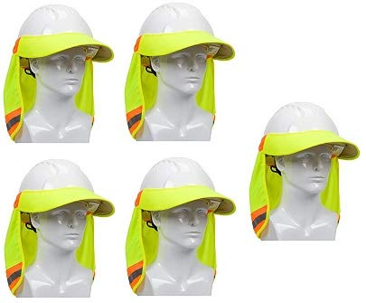 851c327590d Image Unavailable. Image not available for. Color  EZ-Cool 396-800-YEL Hi-Vis  Hard Hat Neck Sun Shade