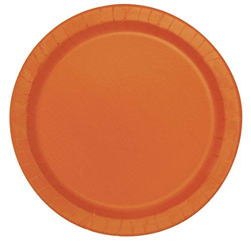 Orange Paper Cake Plates, (Orange Halloween Cake)