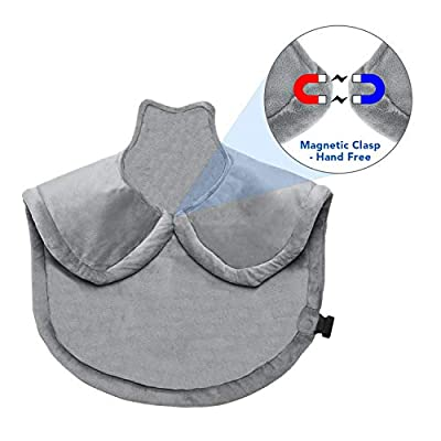Wrap Heating Pad-Shoulder Heating Pad -Electric Heating Pad for Neck and Shoulders Large Heating Pad for Back Adbominal Hand Foot Legs Waist with Fast Heating Auto Shut Off and 6 Heating Level