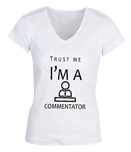 Trust Me I'm A Commentator Damen V-neck T-shirt