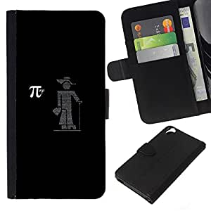 KLONGSHOP // Tirón de la caja Cartera de cuero con ranuras para tarjetas - PI - HTC Desire 820 //