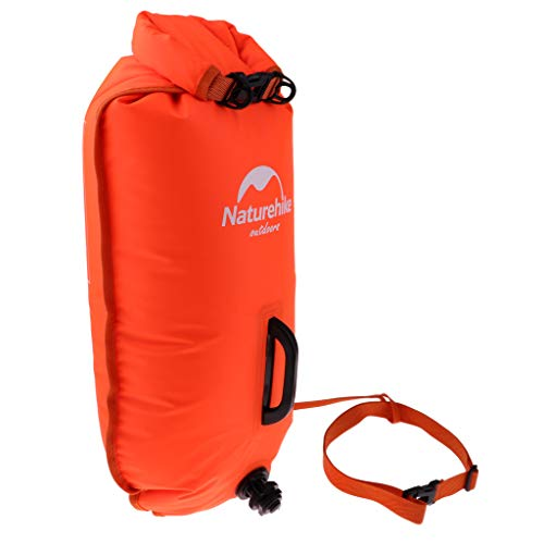 CUTICATE 28L High Visible Safety Swim Buoy – Ultralight Pull Float and Dry Bag for Open Water Swimming Kayaking…