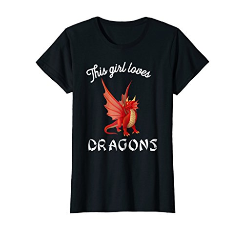This Girl Loves Dragons - Dragon Clothing Fun T ()